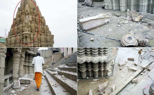 Varanasi Lightning strike in storm