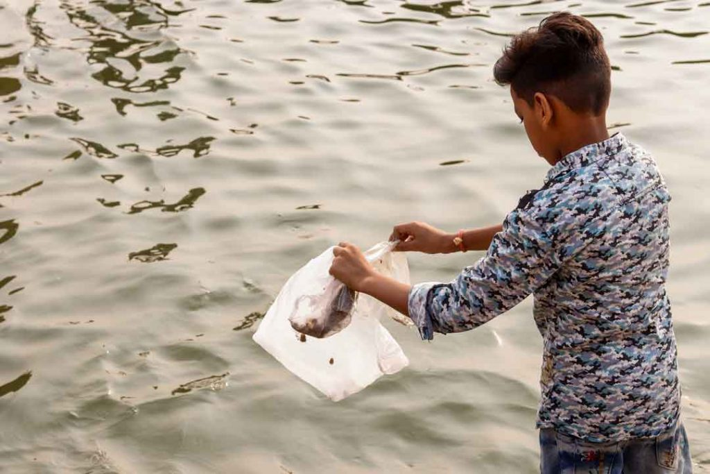 cleaning Ganges by boycotting plastic